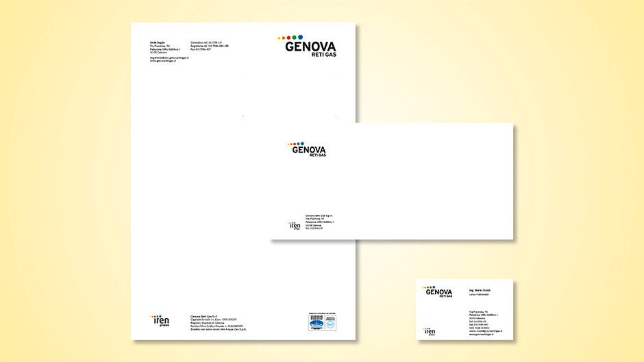 Stationery per Genova Reti Gas