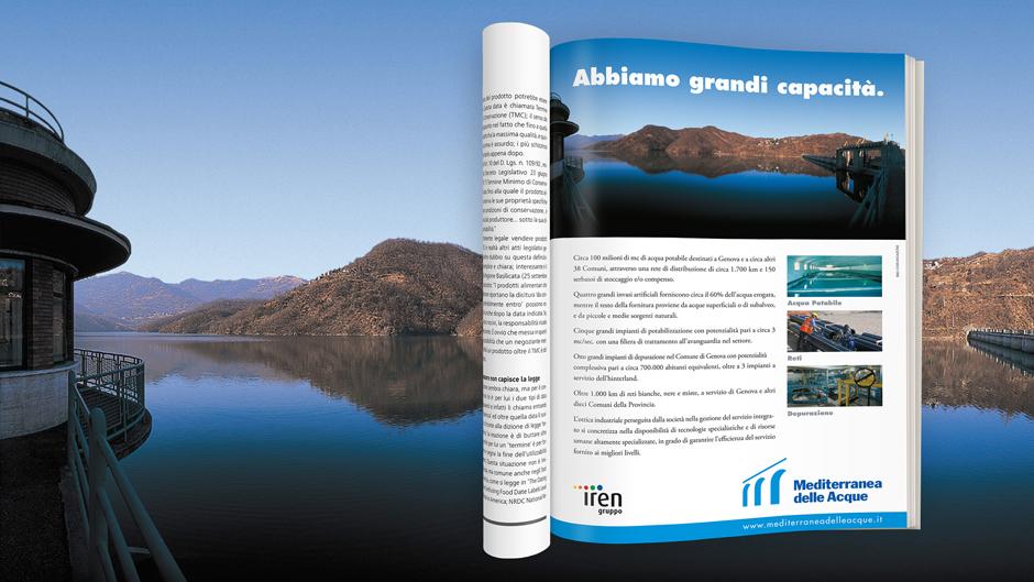 Pagina pubblicitaria Mediterranea delle Acque