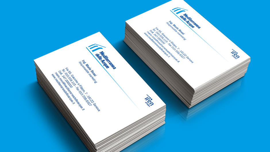 Business cards Mediterranea delle Acque