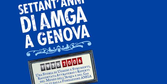 Logo settant'anni di AMGA a Genova