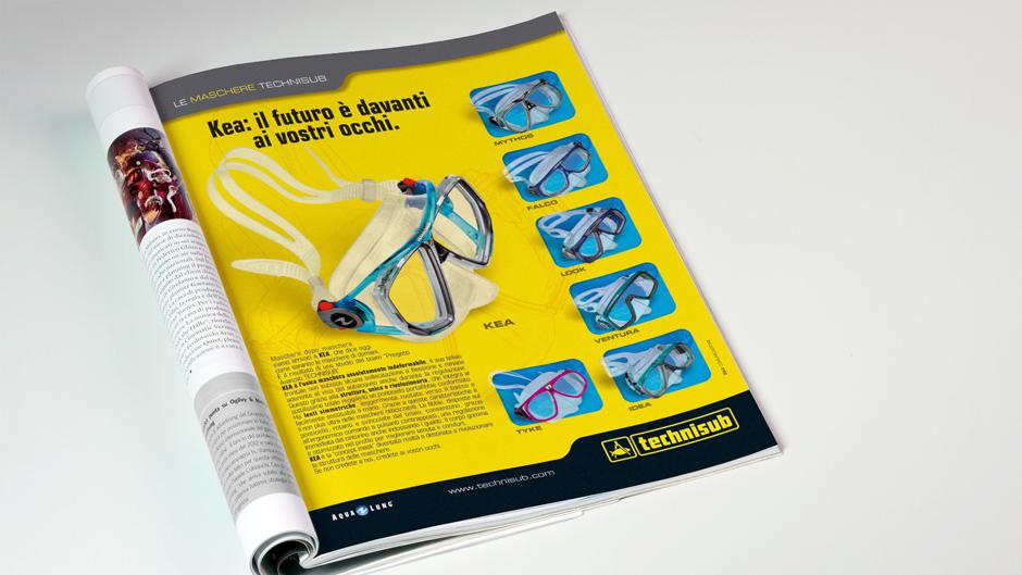 Pagina pubblicitaria Technisub 2004